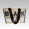 Kraftpapier Non Woven Tasche black and white